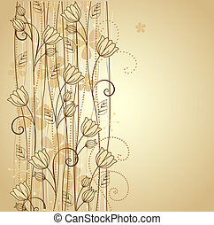 decorative flowers background with place for text