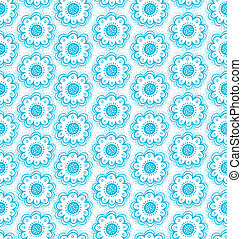 Decorative flowers seamless pattern
