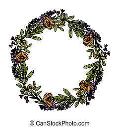 Decorative flowers wreath