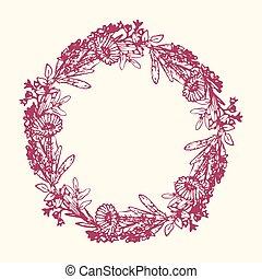 Decorative flowers wreath
