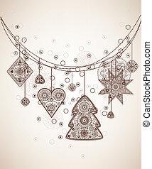 Decorative folk graphic background