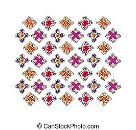 Decorative folk pattern background.