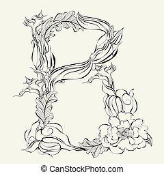 Letter B - Decorative font, Letter B