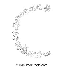 Decorative font, Letter C