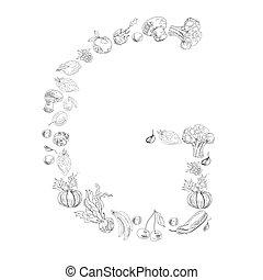 Decorative font, Letter G