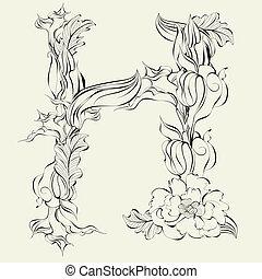 Decorative font, Letter H