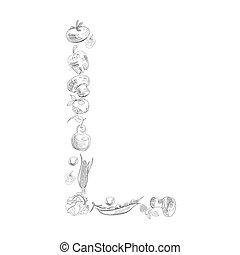 Decorative font, Letter L