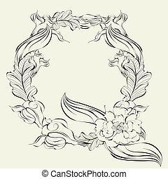 Letter Q - Decorative font, Letter Q