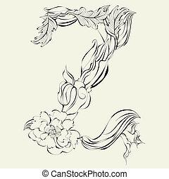 Decorative font, Letter Z
