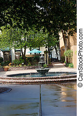 Decorative Fountain in Public Park