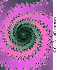 Decorative fractal spiral