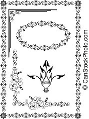 Decorative frame, border of ornamen