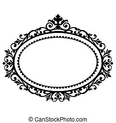 Decorative frame - Decorative black frame on the retro...