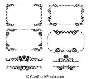 decorative frame - Vector set of decorative horizontal...