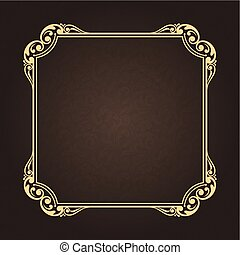 decorative frame in vintage style with beautiful filigree...