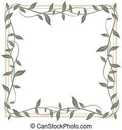 Decorative frame of leaves