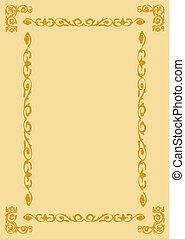 decorative frame on brown backgroun