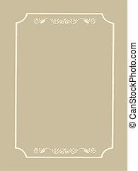decorative frame on brown background