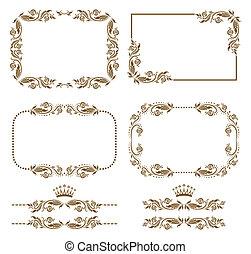 decorative frame - Vector set of decorative horizontal ...