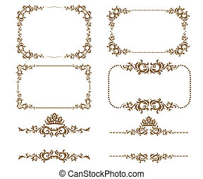 decorative frame - Vector set of decorative horizontal ...