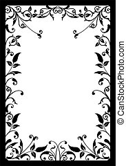 Decorative frame, vector - Decorative frame,  illustration