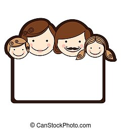 Decorative frame with family faces