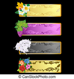 Decorative frame with flowers-1