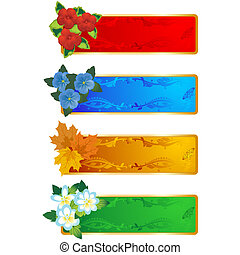 Decorative frame with flowers-2