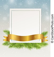 Decorative frame with golden ribbon