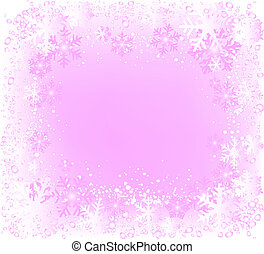 decorative frame with lots of snowflakes, ideal for...