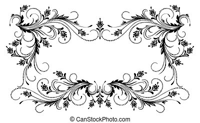 Decorative frame with ornament