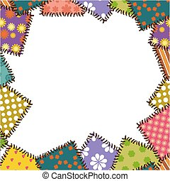 decorative frame with patchwork vector illustration