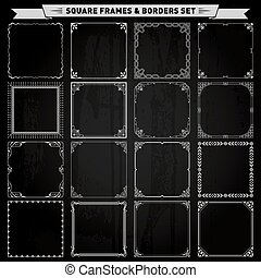 Decorative frames and borders - Decorative square frames and...