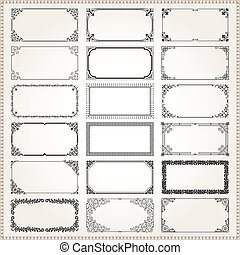 Decorative frames and borders rectangle 2x1 proportions set 2