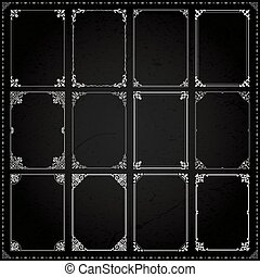 Decorative frames and borders rectangle proportions set 7