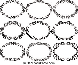 frames oval - decorative frames oval