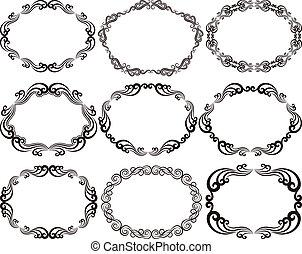 decorative frames oval