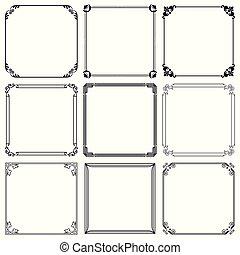 Decorative frames (set 41)