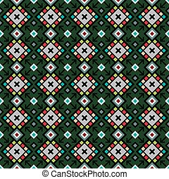 Decorative geometric pattern in green