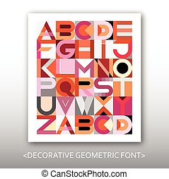 Decorative Geometric Vector Font