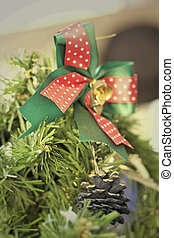 Decorative gifts with christmas tree