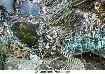 decorative glass - decorative textured background of glass...
