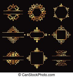 Decorative gold design elements
