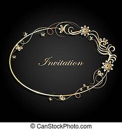 Decorative Gold Frame.