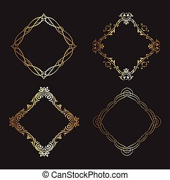decorative gold frames collection 1005