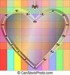 Decorative gold heart