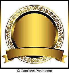 Decorative gold round plate