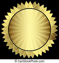 Decorative gold star