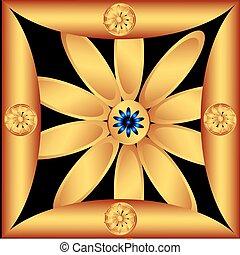 Decorative golden flower