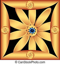 Decorative golden flower